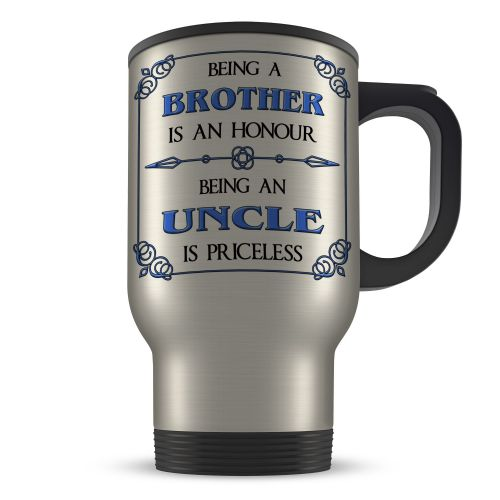 14oz Being A... Is An Honour Being A... Is Priceless Novelty Gift Aluminium Travel Mug - Blue